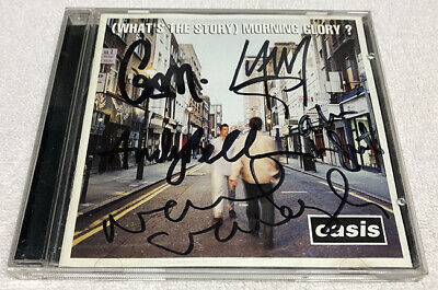 Oasis (What's the Story) Morning Glory? Signed CD Autographed Noel Gallagher