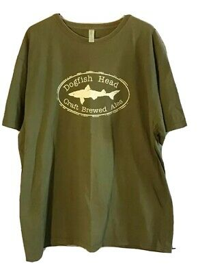 Craft Brewery Dogfish Head Ales T Shirt Green XXL