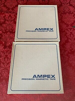 2 Ampex Precision Magnetic Tape 10.5 Real To Reel
