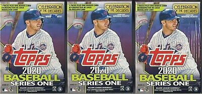2020 Topps Series 1 Baseball Factory (3 Blaster Box Lot) - W/ 3 Rookie Medallion