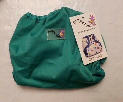 Rumparooz One Size Cloth Diaper Cover Snap, Peacock, New (6 - 35+ lbs)