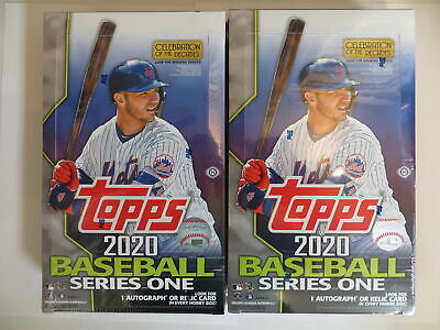 2020 Topps Series 1 Baseball Factory Sealed Hobby 2 Box Lot+ Silver Packs