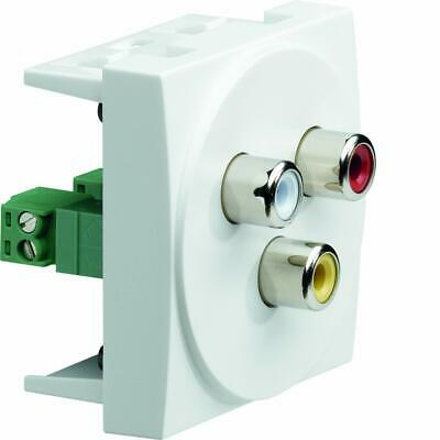 Hager systo ? 3RCA o Socket Whte Red Yellow systo 2 dule