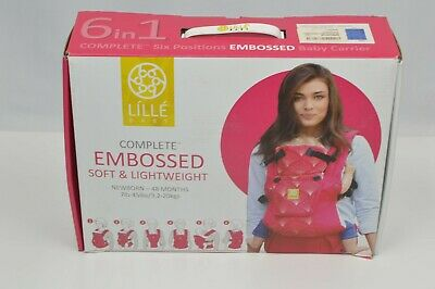 NEW Open Box LILLEbaby COMPLETE™ Embossed - Blue 6 Position 360 Baby Carrier