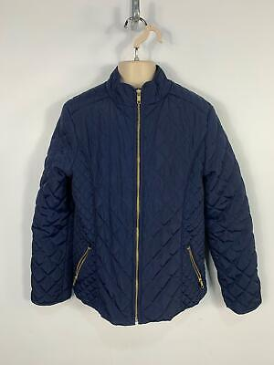 Girls H&M Navy Blue Diamond Quilted Light Weight Casual Coat Kid Age 11/12 Years