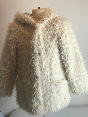 Girls George Cream Warm Teddy Bear Jacket Coat Kids Age 7-8 Years