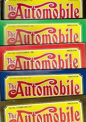 Various Issues of THE AUTOMOBILE Magazine from the 1980s