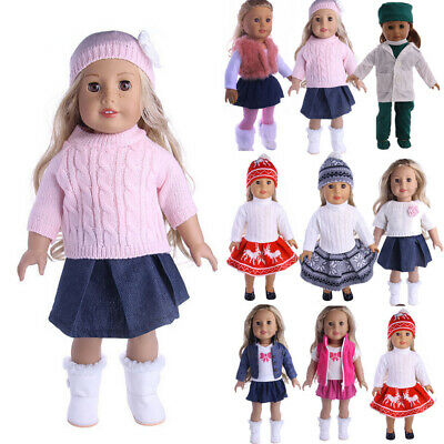 Stylish Sweet Doll Clothes Princess Dress Outfits for 18 inch Girl Dolls DIY