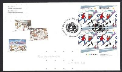 Canada   # 1627 LLpb  UNICEF DELIVERING GIFTS  Brand New 1996 Unaddressed Cover