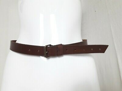 CEINTURE CORSET CUIR Vintage Pin Up Red Leather Woman Belt