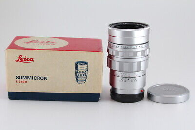 [Near Mint] Leica SUMMICRON M 90mm F2 Silver with Serial Matching Box from JAPAN