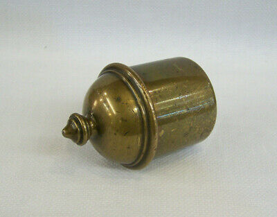 C1890 Antique Victorian Cast Brass Table Snuff Box Or Small Sized Tobacco Jar.