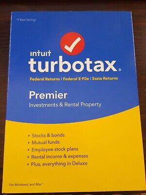 Intuit TurboTax PREMIER Investments Rental 2018 Federal~Fed eFile~State Returns