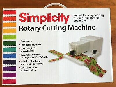 Simplicity Rotary Cutting Machine Quilting Strips Barely Used