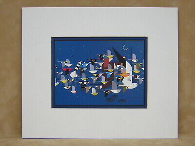 Charley Harper Mystery Missing Migrants Matted Art Card
