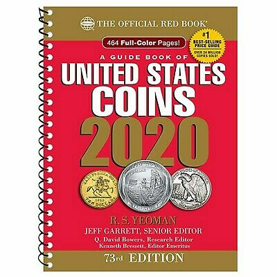 A Guide Book of United States Coins 2020 The Official Red Book Spiral 73rd Ed