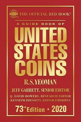 The Official Red book: A Guide Book of United States Coins 2020 Hardcover 73rd