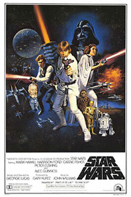 STAR WARS EPISODE IV - A NEW HOPE - Movie Poster 24 in x 36 in