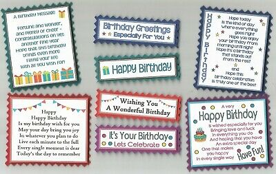 4 IT/'S A BOY Birth New Baby Greeting Card Craft Verse Toppers W//WO Sentiments