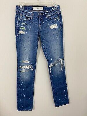 Women's Abercrombie & Fitch Jeans Size 00 Distressed