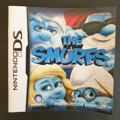 The Smurfs Instruction Manual Booklet Nintendo DS (NO GAME MANUAL ONLY)