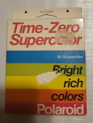 NEW Polaroid Time-Zero Supercolor SX-70 Land Film 10 Photo SEALED