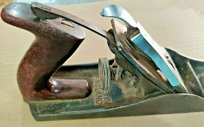 VINTAGE STANLEY BAILEY NO 4 PLANE SMOOTHING WOOD working tool  MADE IN ENGLAND