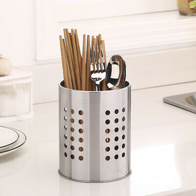 Large Kitchen Utensil Stainless Steel Cooking Tool Holder Cutlery Stand Strainer