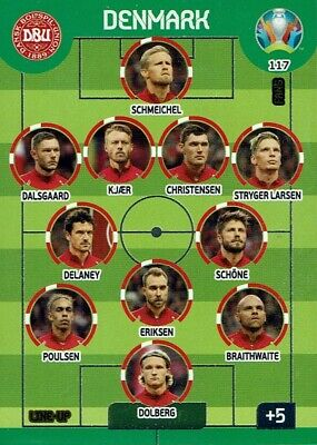 Panini Adrenalyn XL UEFA Euro Em 2020 Line-Up No. 117 Denmark