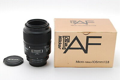 [Near Mint!] Nikon AF Micro-Nikkor 105mm 1:2.8 Lens with Box f/2.8 from Japan