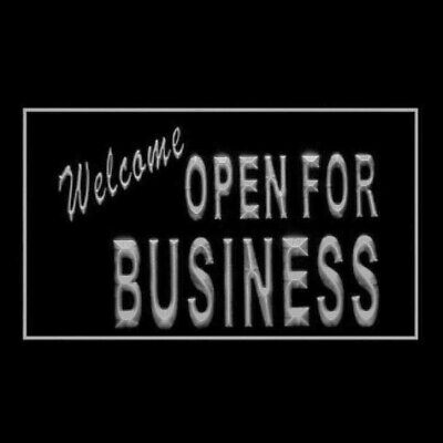 120066 Welcome OPEN For Business Trade Benefit Display LED Light Sign
