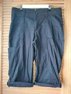 Womens Riders By Lee Mid Rise Skimmer Capri Cropped Cargo Pants- Size 12M