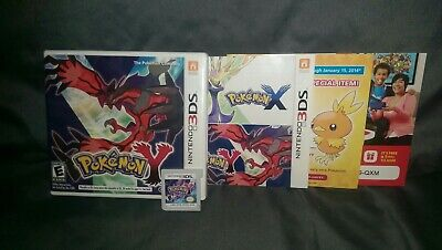 Pokemon Y (3DS, 2013) All inserts included