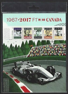 Canada  #2992    FORMULA ONE  Full Pane  Canada Post Office 2017 Sealed Sheet