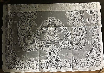 "Jessica Laura Ashley Victorian style White cotton lace panel 36"" x 24"" readymade"