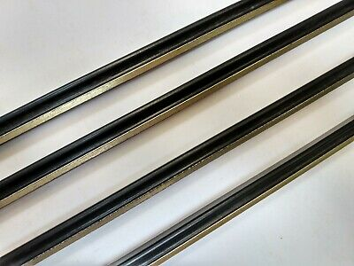 3.6 m bundle (85x100cm) 13mm Narrow Black & Gold Wooden Picture Frame Moulding