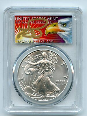 1990 S $1 Proof American Silver Eagle 1oz PCGS PR69DCAM Thomas Cleveland Native