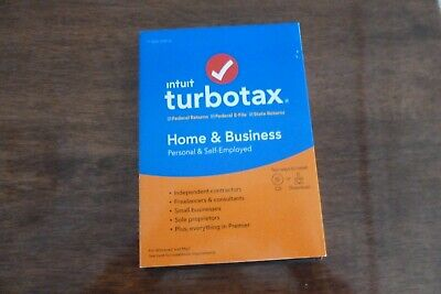 Intuit Turbotax Home and Business 2019 Four Returns Left