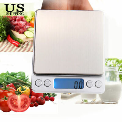 Digital Scale 3000g x 0.1g Jewelry Gold Silver Coin Gram Pocket Herb Grain US