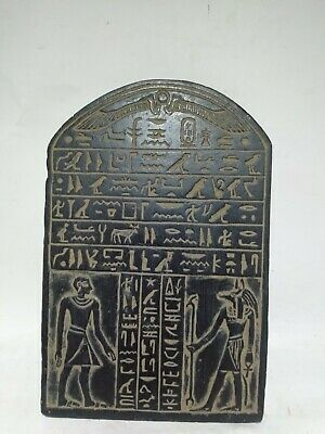 RARE ANTIQUE ANCIENT EGYPTIAN Stela Scarab Protect God Anubis 1385-1349 Bc
