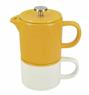 La Cafetiere BARCELONA French Press COFFEE for ONE Mustard Yellow