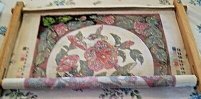 Dimensions Needlepoint Kit HUMMINGBIRDS ON FLORAL 2448 + Scroll Frame