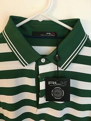 NEW Ralph Lauren RLX Golf Polo Shirt Mens Size Large New with Tags Forrest Green