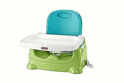 Fisher Price Healthy Care Deluxe Green Blue Infant Toddler Booster Seat