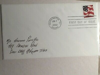 Scott Us #3621 6/7/2002 First Class Sa Flag Fdc Usps Sealed & Addressed Cover