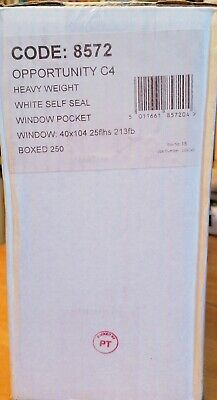 Opportunity White C4 Envelopes Self Seal 100gsm (Pack of 250) Window (8572)