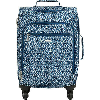 Baggallini Rolling Blue Prism 4 Wheel Travel Carry-On Spinner Wheeled Luggage