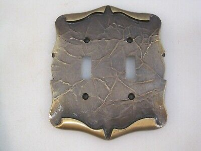 Vintage Amerock Carriage House Double Light Switch Cover Plate - NOS  B0446