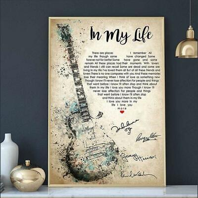 The Beatles In My Life Guitar I love You More Poster No Frame