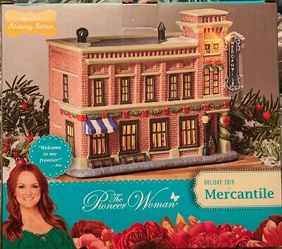 The Pioneer Woman Christmas Village Decoration 2019 Mercantile Shop NIB